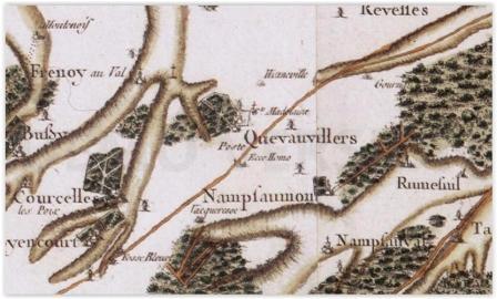 quevauvillers-carte-plan-cassini